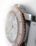 SUB 2.0 - Steel - Copper tone - White Rally leather strap