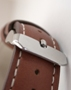 Princess - Steel/Brown leather strap